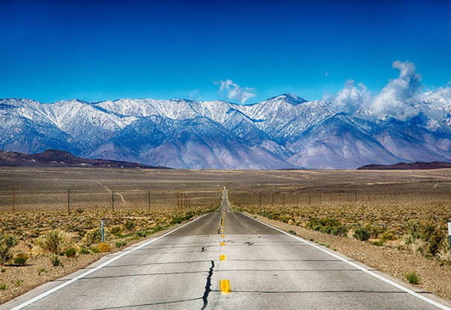 Road Tripping along the Eastern Sierra Nevada Mountain Range
